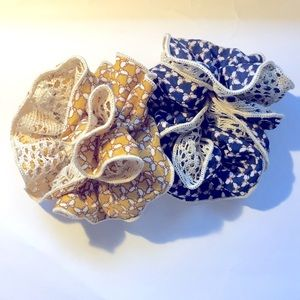 Butterfly Pattern Scrunchies (set of 2)